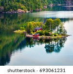 Picturesque Summer View With...