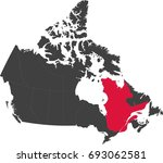map of canada split into... | Shutterstock .eps vector #693062581