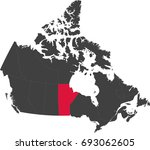 map of canada split into... | Shutterstock .eps vector #693062605