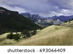 red lodge  montana  usa. rocky... | Shutterstock . vector #693066409