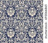 seamless damask wallpaper.... | Shutterstock .eps vector #693066865