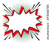 pop art styled speech bubble... | Shutterstock .eps vector #693068785