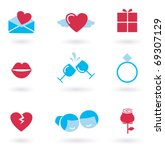 vector collection of valentine...   Shutterstock .eps vector #69307129