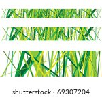 abstract green grass lines
