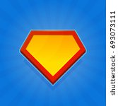 blank superhero logo icon on... | Shutterstock .eps vector #693073111