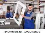 production positive workers in... | Shutterstock . vector #693078571