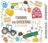 set of colorful farming... | Shutterstock .eps vector #693084007
