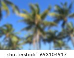 blurry background of palm trees ...