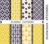 flower vector pattern for... | Shutterstock .eps vector #693106861