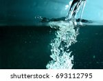 flowing blue and green water...   Shutterstock . vector #693112795