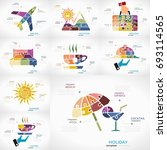 vacation infographic pack with... | Shutterstock .eps vector #693114565