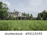 a private house and its garden... | Shutterstock . vector #693115195
