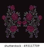 elegant hand drawn decoration...   Shutterstock . vector #693117709