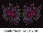 elegant hand drawn decoration...   Shutterstock . vector #693117781