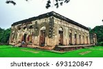Small photo of Ruined Building of Doctor Fayrer's Residence in Lucknow Residency, India. This building was made 1790's & one of the important building of Lucknow residency. This building witnessed the revolt of 1857