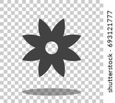 flower icon vector isolated | Shutterstock .eps vector #693121777