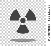 radioactive icon vector isolated | Shutterstock .eps vector #693121789