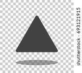 triangle icon vector isolated   Shutterstock .eps vector #693121915