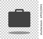 briefcase icon vector isolated