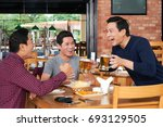 excited mature vietnamese man... | Shutterstock . vector #693129505