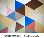polygon abstract art geometric... | Shutterstock . vector #693130627