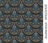 seamless abstract pattern with... | Shutterstock .eps vector #693131425