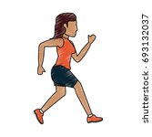 running woman vector... | Shutterstock .eps vector #693132037
