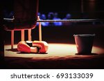 boxing ring corner before a... | Shutterstock . vector #693133039