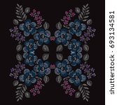 elegant hand drawn decoration... | Shutterstock . vector #693134581