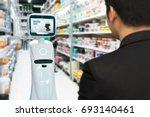 robotics trends technology  ... | Shutterstock . vector #693140461
