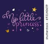 little princess lettering... | Shutterstock .eps vector #693140659