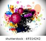 musical theme disco background... | Shutterstock .eps vector #69314242