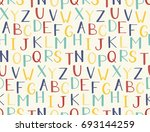 seamless pattern with hand... | Shutterstock .eps vector #693144259