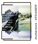photo print mountain everest... | Shutterstock . vector #693144859