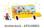 vector flat funny cartoon...   Shutterstock .eps vector #693148801