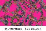 amazing paisley pattern | Shutterstock . vector #693151084