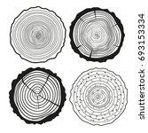 tree rings. set of cross... | Shutterstock .eps vector #693153334