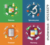 medical illustration set with... | Shutterstock . vector #693153379