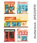 fast food restaurant and... | Shutterstock . vector #693153955