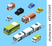 isometric transport  3d car... | Shutterstock . vector #693154345