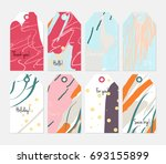 hand drawn creative tags.... | Shutterstock .eps vector #693155899