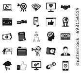 fee for the project icons set.... | Shutterstock .eps vector #693156529