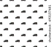 hearse pattern in cartoon style.... | Shutterstock .eps vector #693157681