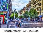 serbia  belgrade   july 26 ...   Shutterstock . vector #693158035