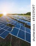 solar panels  solar cell  in... | Shutterstock . vector #693159397