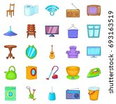 appointment icons set. cartoon... | Shutterstock .eps vector #693163519