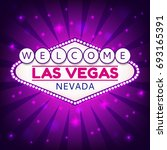 welcome las vegas nevada sign...   Shutterstock . vector #693165391