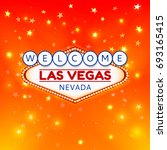 welcome las vegas nevada sign... | Shutterstock . vector #693165415