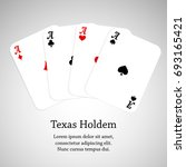 four aces poker cards. texac... | Shutterstock . vector #693165421