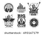 retro audio record  studio... | Shutterstock . vector #693167179